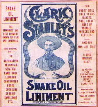 Snake Oil anyone?
