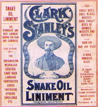 Snake Oil anyone?