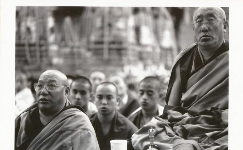 Kyabje Bokar Rinpoche and Khen Rinpoche